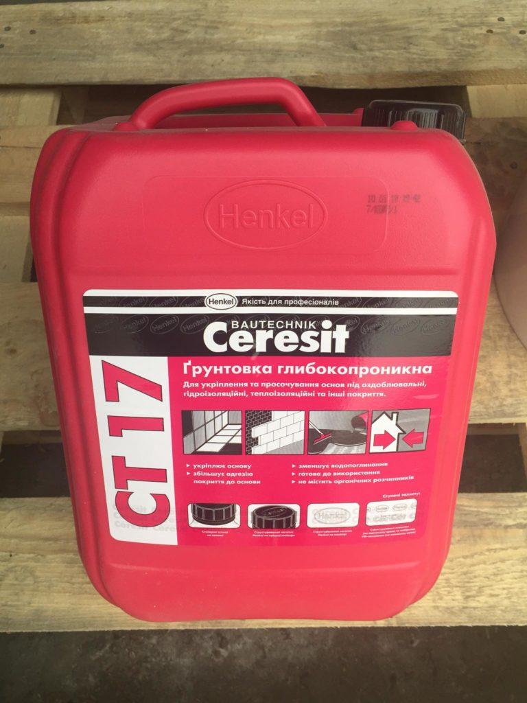 Грунтовка глубокопроникающая Ceresit CT-17