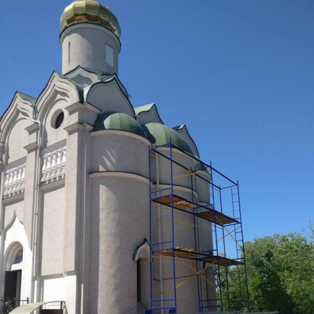 Церковь на Монастырском Острове.Гидроструйная отчистка,грунтовка,покраска,рестоврация