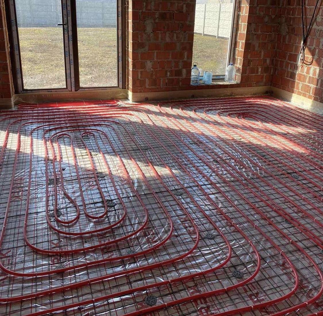 Полусуха стяжка підлоги. Обухівка. 190 м.кв.